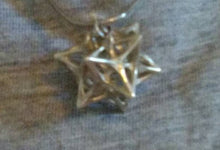 Load image into Gallery viewer, Softened Stellated Dodecahedron Necklace