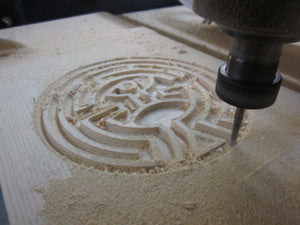 Westworld Map maze puzzle wood engraving
