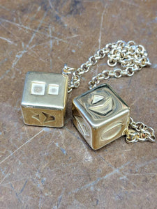 Stainless Steel Smuggler's Golden Dice - Gold Plated Stainless Steel Dice