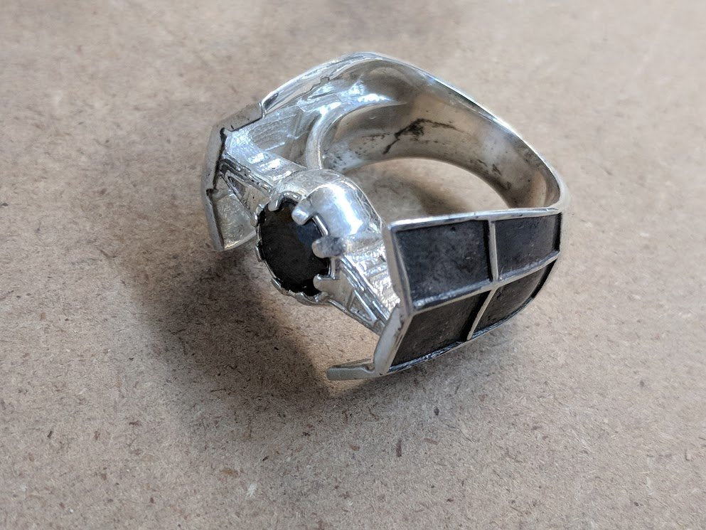 TIE Fighter Advanced Ring Squadron Imperial Vader Sterling Silver Ring