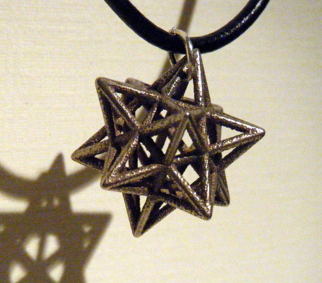 awesome star necklace - small stellated dodecahedron 3d printed