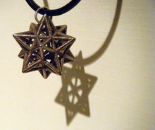 Load image into Gallery viewer, awesome star necklace - small stellated dodecahedron 3d printed