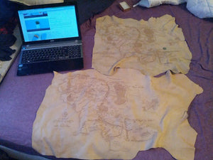 Medium Sized leather map