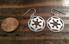 Load image into Gallery viewer, Imperial Cog Star Wars earrings