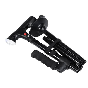 Canne pliable double grip LED