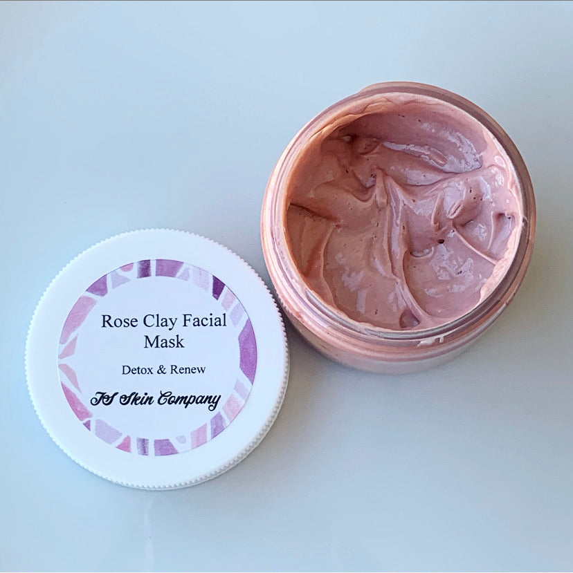 Rose Clay Facial Mask 2oz - TS Skin Co.