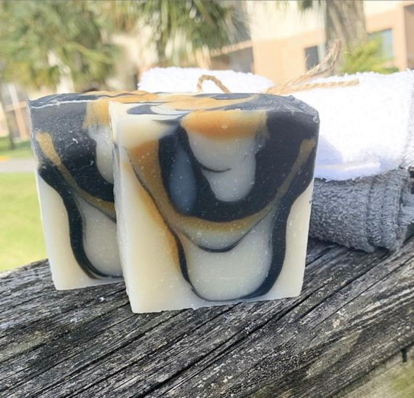 Charcoal Turmeric & Lemon Essential Oil Soap-3-4 oz