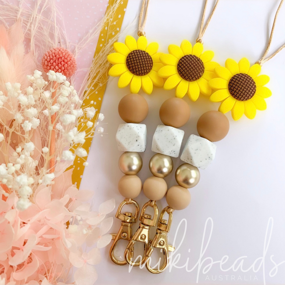 Sunflower Gal Lanyard