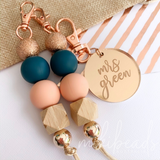 Peach Luxe Keyring