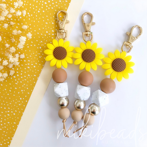 Sunflower Gal Keyring