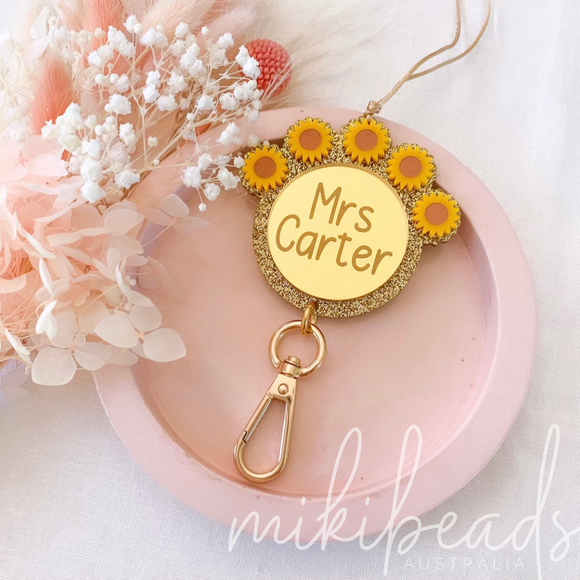 Sunflower Crown Lanyard