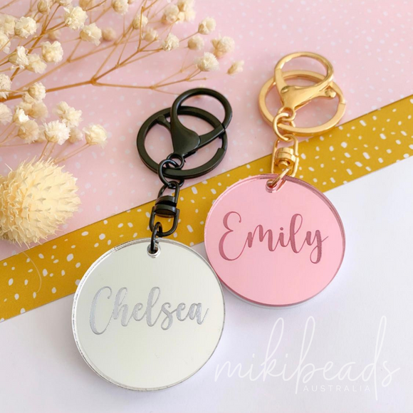 Personalised Mirror Keychain