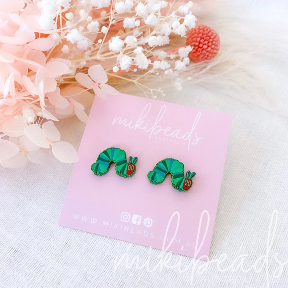 Hungry Caterpillar Studs
