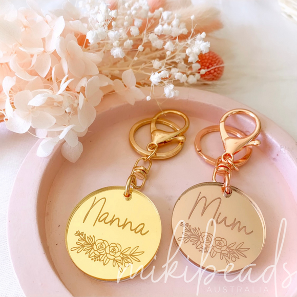 Mothers Day Personalised Keychain