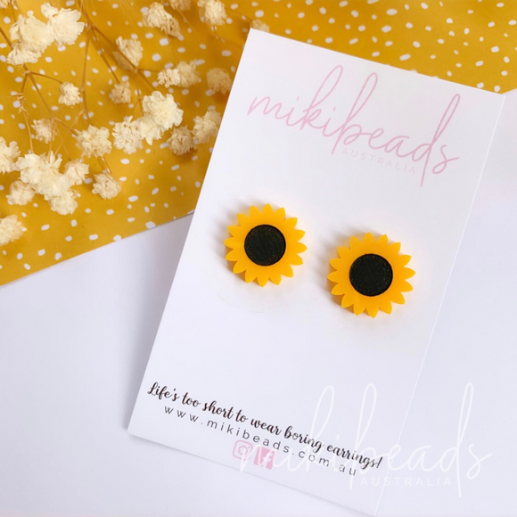 Sunshine Sunflower Studs
