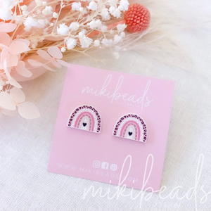 Pink Panther Rainbow Studs