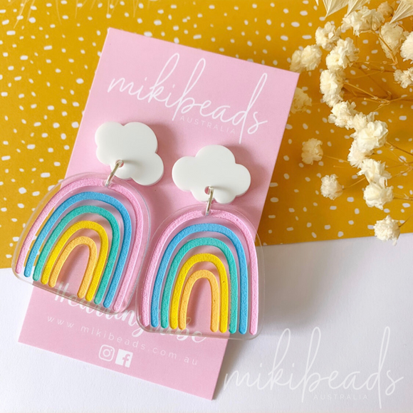 Pastel Rainbow Bridge Dangles