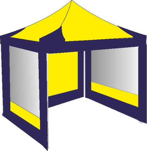3M x 3M Navy Blue and Yellow Pop Up Gazebo
