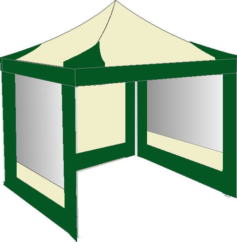 3M x 3M Cream and Green Pop Up Gazebo