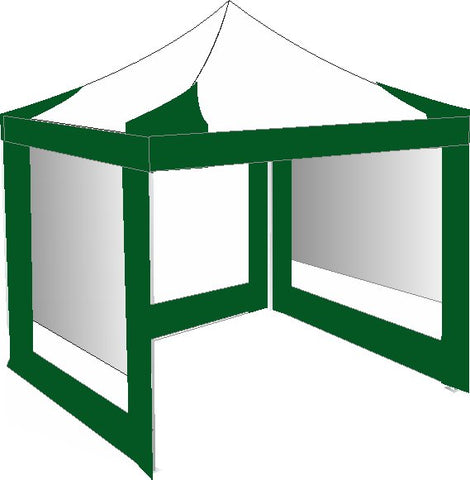 2.5M x 2.5M Green and White Pop Up Gazebo