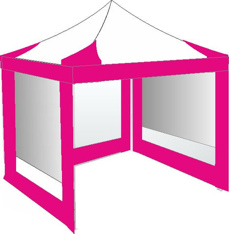 3M x 3M Pink and White Pop Up Gazebo