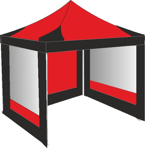 3M x 3M Red and Black Pop Up Gazebo