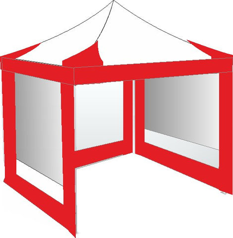 3M x 3M Red and White Pop Up Gazebo