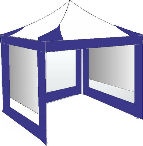 3M x 3M Royal Blue and White Pop Up Gazebo
