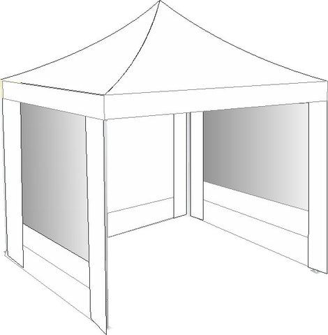 2.5M x 2.5M White Pop Up Gazebo