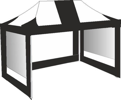 3M x 4.5M Black and White Pop Up Gazebo
