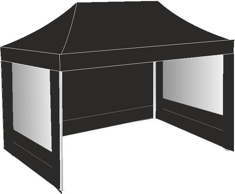 3M x 4.5M Black Pop up Gazebo