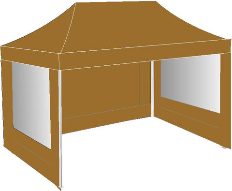 3M x 4.5M Brown Pop Up Gazebo