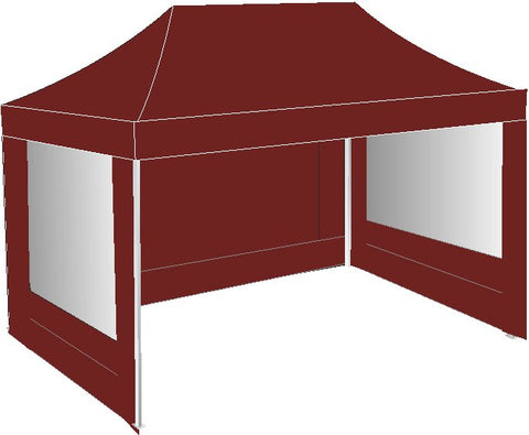 3M x 4.5M Burgundy Pop Up Gazebo