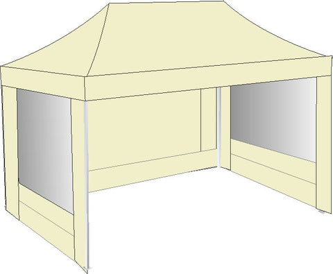 3M x 4.5M Cream Pop Up gazebo
