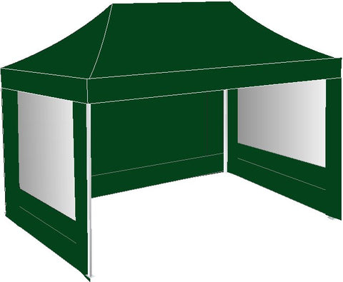 3M x 4.5M Green Pop Up Gazebo