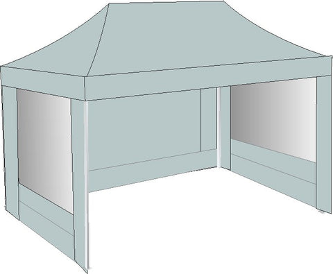 3M x 4.5M Grey Pop Up Gazebo