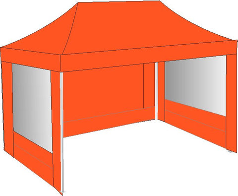 3M x 4.5M Orange Pop Up Gazebo
