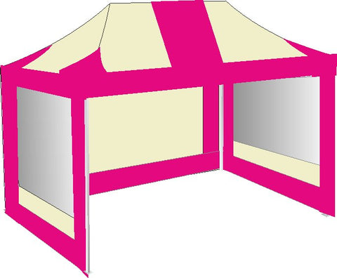 3M x 4.5M Pink and Cream Pop Up Gazebo