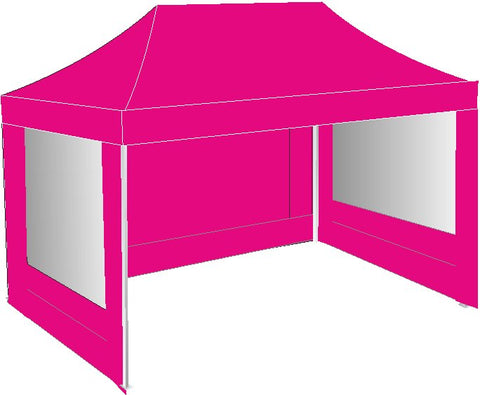 3M x 4.5M Pink Pop Up Gazebo