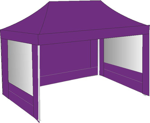 3M x 4.5M Purple Pop Up Gazebo