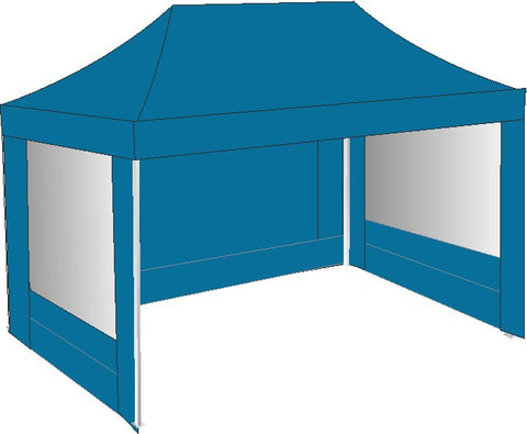 3M x 4.5M Sky Blue Pop Up Gazebo