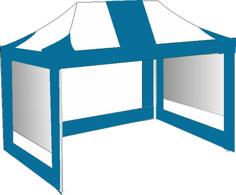 3M x 4.5M Sky Blue and White Pop Up Gazebo