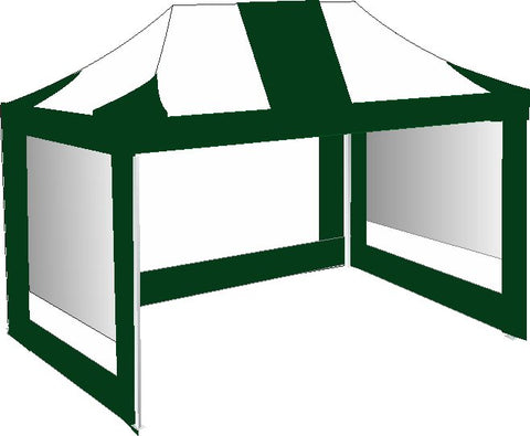 3M x 4.5M Green and White Pop Up Gazebo