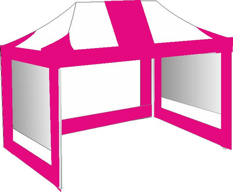 3M x 4.5M Pink and White Pop Up Gazebo