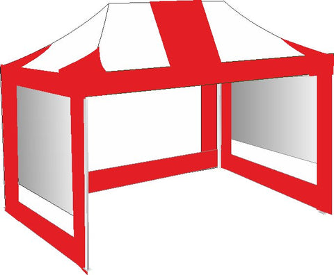 3M x 4.5M Red and White Pop Up Gazebo