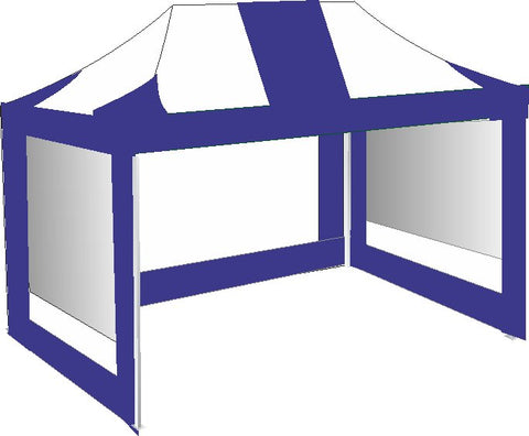3M x 4.5M Royal Blue and White Pop Up Gazebo