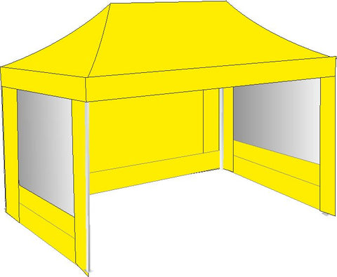 3M x 4.5M Yellow Pop Up Gazebo