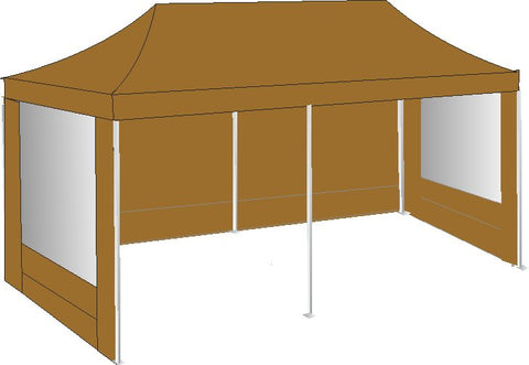 3M x 6M Brown Pop Up Gazebo