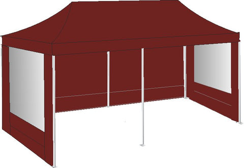 3M x 6M Burgundy Pop Up Gazebo