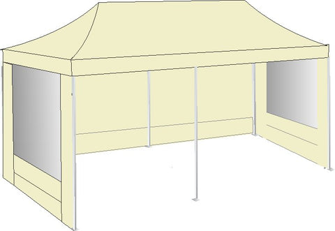 3M x 6M Cream Pop Up Gazebo